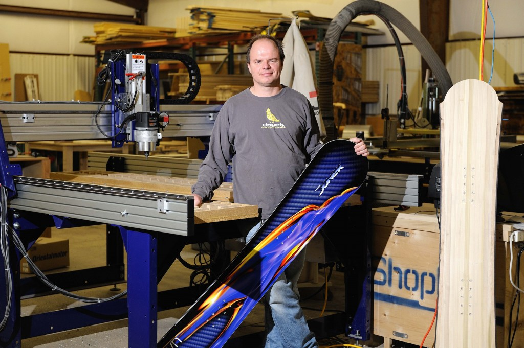 Donek Tools Founder Sean Martin in front of Shopbot CNC router